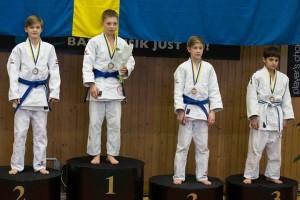 Guldmedaljör Leo Gruber och Silvermedaljör Pontus Åberg, båda från Staffanstorps Judoklubb.